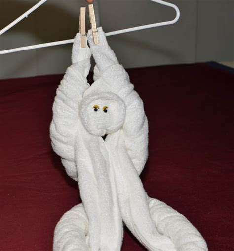Towel Origami Monkey - how to make towel animals 10 creatures to practice