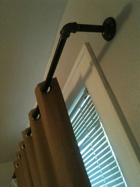 industrial curtain hardware 63 best images about pipe curtain rods on pinterest