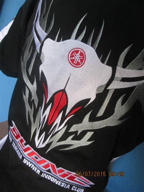 Bordir Logo Baju pembuatan baju kemeja komunitas byonic gading kaos klaten