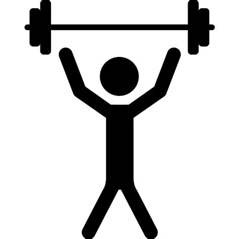 Stick Dumbell with raised arms lifting dumbbells weight free