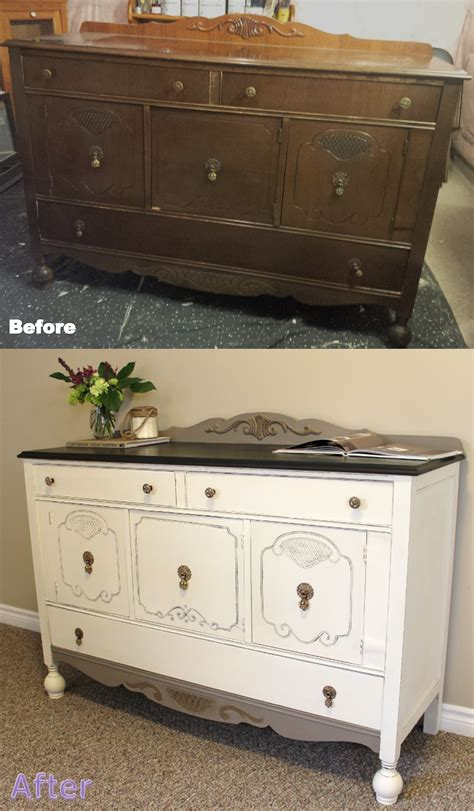 chalk paint buffet before and after buffet sloan chalk paint graphite