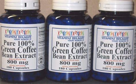 Green Coffee Bean Extract 800 Mg Membakar Lemak Pel Diskon 100 green coffee bean extract chlorogenic acid 800mg