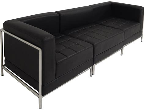 black tufted sofa black tufted modular 3 seat sofa