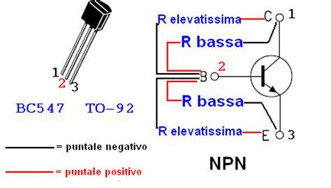 bc547 transistor testing verifica transistor con il multimetro electroyou