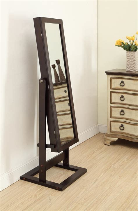 jewelry armoire with mirror front cheval jewelry mirror