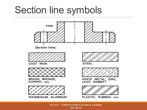 section line in drawing res 112e computer aided technical drawing ppt video