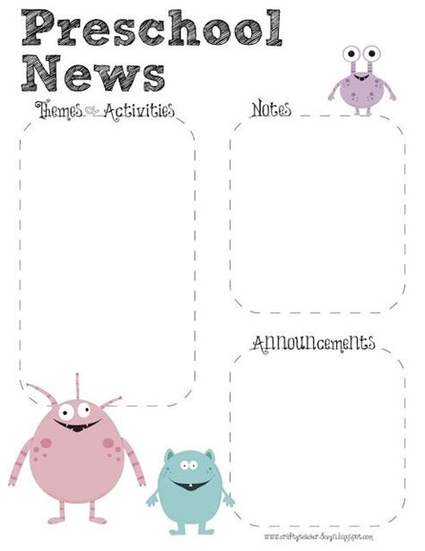 preschool newsletters templates best 25 preschool newsletter ideas on