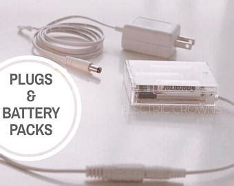 battery pack for plug in lights updates from electriccrowns on etsy