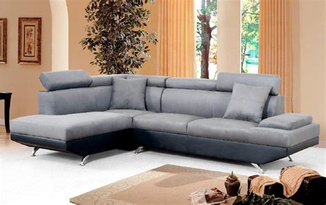 Black Microfiber Sectional Sofa With Chaise Bevly Modern Charcoal Gray Microfiber With Black Fabric Right Facing Chaise Sectional Lowest