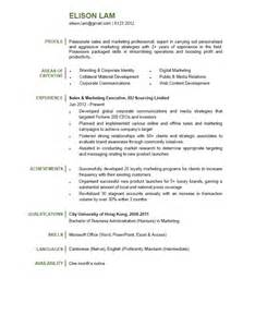 Resume Examples For Retail by Sales Amp Marketing Executive Cv Ctgoodjobs Powered By