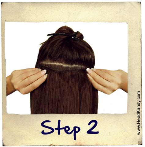 how to put hair clip extensions in headkandy clip in hair extensions offer hair to