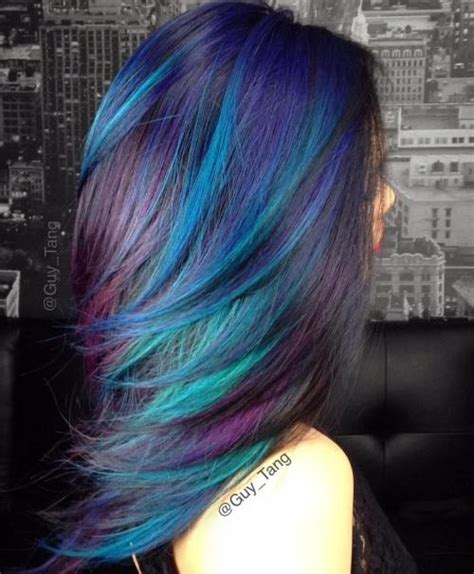 purple shoo for purple highlights 20 blue and purple hair ideas
