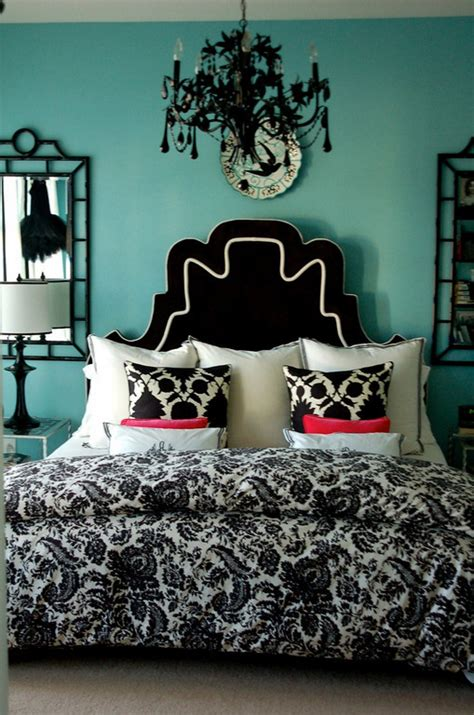 damask bedroom decor black and turquoise bedroom panda s house