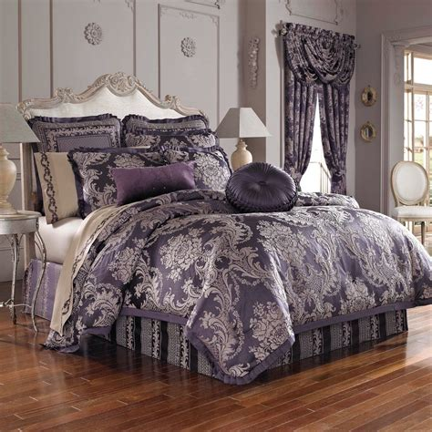 j queen new york bedding j queen new york isabella 4 pc queen comforter set purple