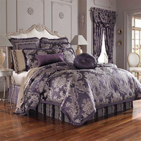 j queen new york isabella 4 pc queen comforter set purple