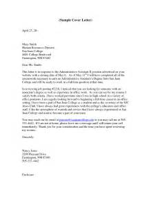 Administrative Assistant Cover Letter Exles by Executive Administrative Assistant Cover Letter Sle