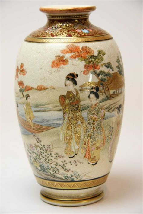 Satsuma Vase by A Satsuma Vase Meiji Period Decorative Arts
