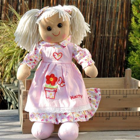 rag doll uk personalised rag doll by the alphabet gift shop
