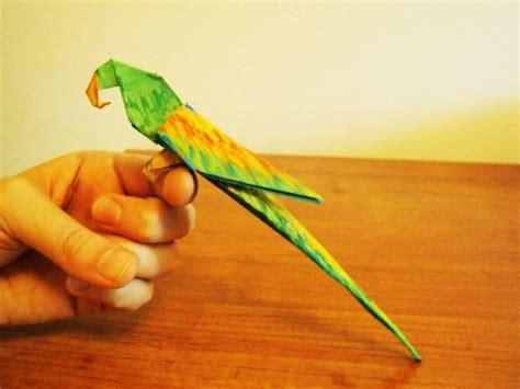 Cara Membuat Origami Burung Parrot | cara membuat burung parrot parkit youtube