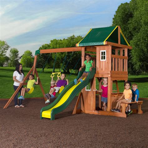 swing set flyer play park metal swing set walmart