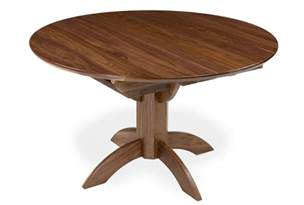 Circle Table Extending Walnut Table