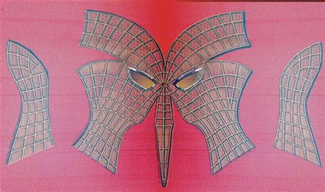 spiderman pattern print spiderman mask sewing template