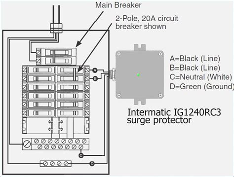 Breaker Box Surge Protector Installation - whole house surge protector wiring diagram
