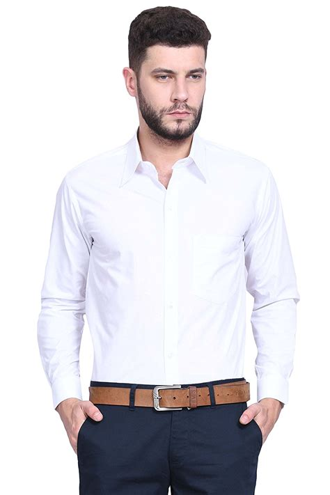 White Shirt by Versatyl Sleeves 100 Cotton Slim Fit Shirts For White Color For