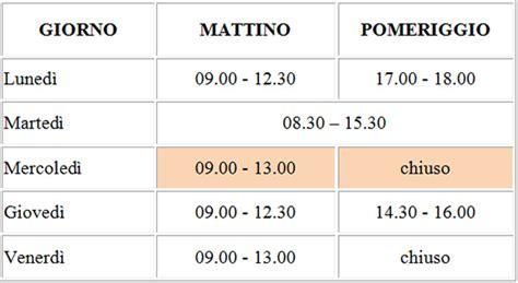 orari uffici comunali calcolzio gli orari estivi degli uffici comunali