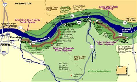 map of hwy 30 oregon historic columbia river highway oregon