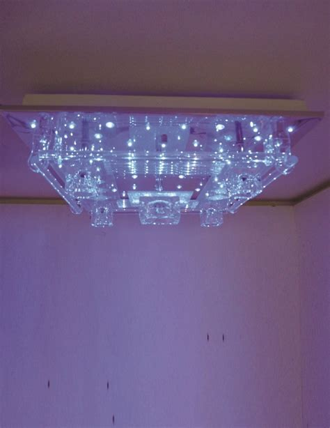 lighting australia clear acrylic glass mount led ceiling