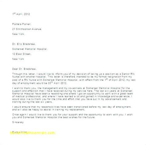 30 new update sample resignation letter nurses professional resume