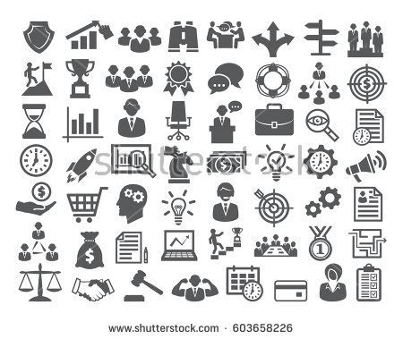 Set Of Business Icons Human Resource Finance Royalty Free Stock Photos Image 33611768 Business Stock Images Royalty Free Images Vectors