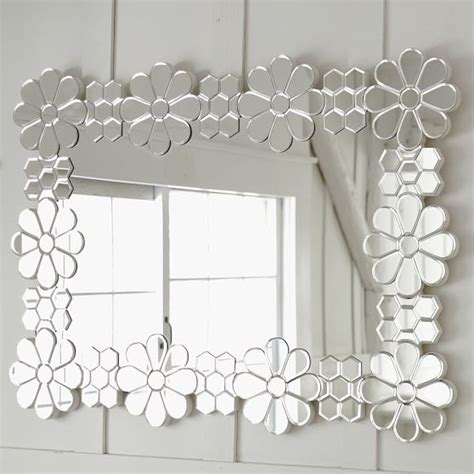 floral pattern wall mirror daisy floral mirror pbteen