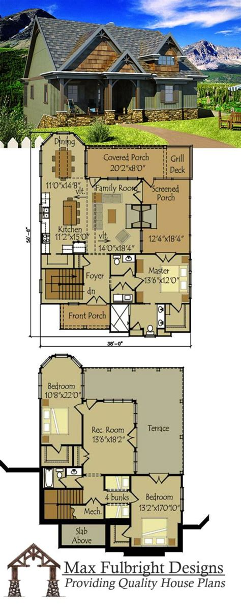 cabin floor plans with walkout basement small cottage plan with walkout basement house small cottage plans and cottage house plans