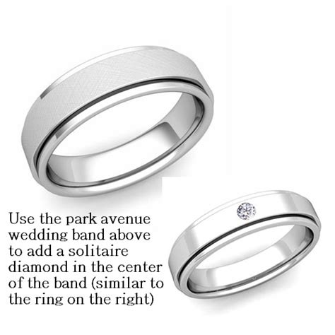 the numbers wedding band park avenue solitaire wedding band in 14k white gold 6mm