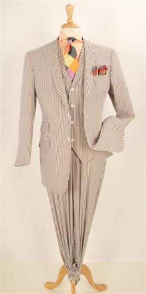 skujrw mens pc brown seersucker fashion suit  wide