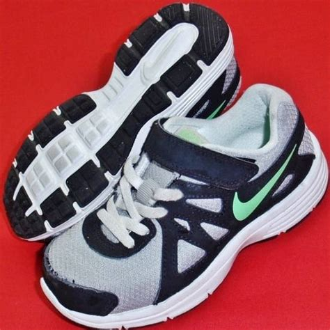 boys velcro athletic shoes used boys toddler nike revolution 2 gray black athletic