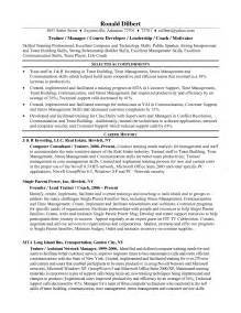 Contract Trainer Sle Resume by Server Trainer Resume Sales Trainer Lewesmr