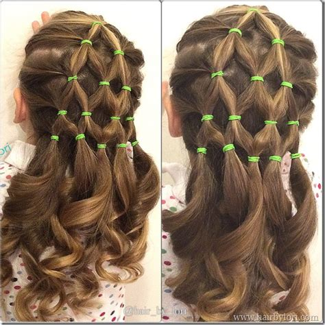 simple hairstyles with one elastic 7 great christmas tree hairstyles hair by lori