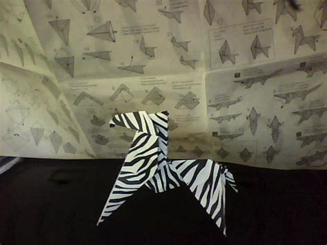 Origami Zebra - origami zebra for real by funquisha on deviantart