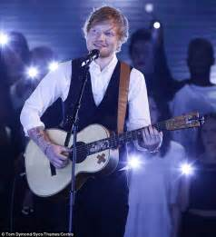 ed sheeran perfect x factor ed sheeran smartens up in waistcoat as he performs on x
