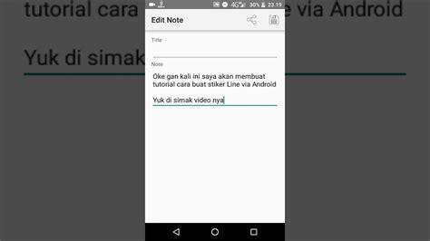 membuat stiker line gratis tutorial membuat stiker line di android youtube