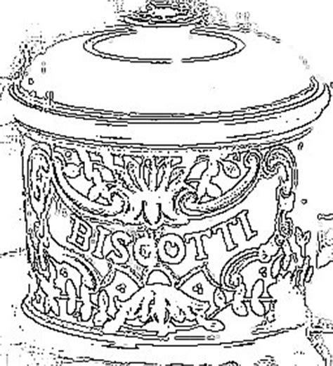 italophile coloring pages cookie jar