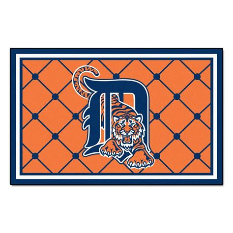 detroit tigers rug fanmats detroit tigers 4 ft x 6 ft area rug 7057 the home depot