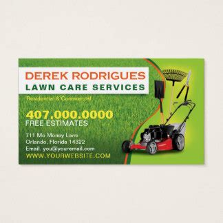lawn care business card templates free 494 lawn care business cards and lawn care business card
