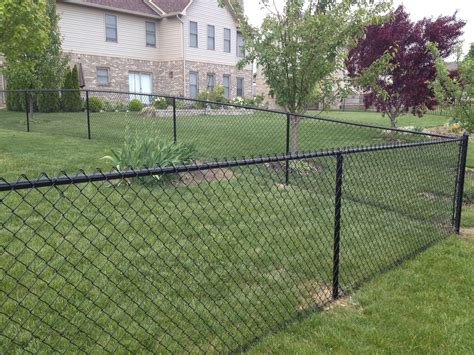 chain link fence 4 black vinyl chain link fence by by affordable fence builders llc fence