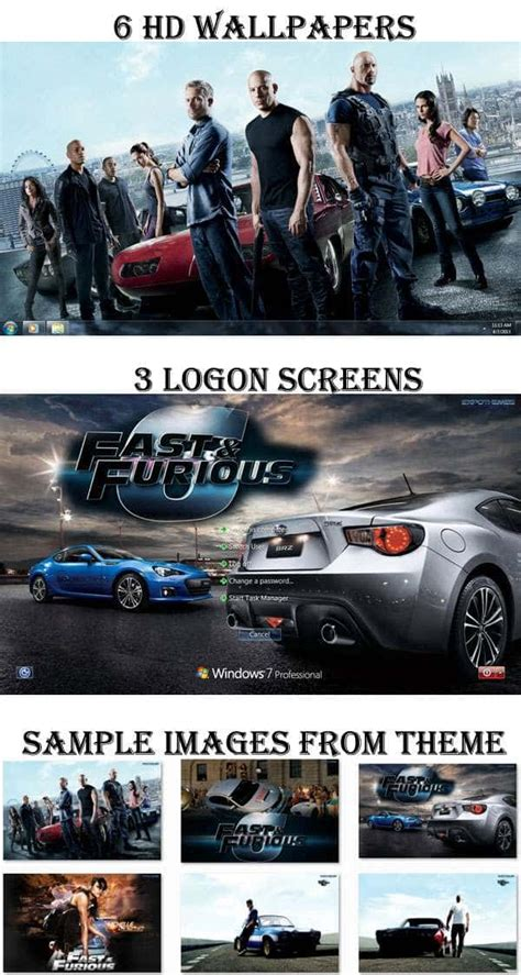 pc themes fast and furious fast furious 6 theme for windows 7 8 with racing wallpapers