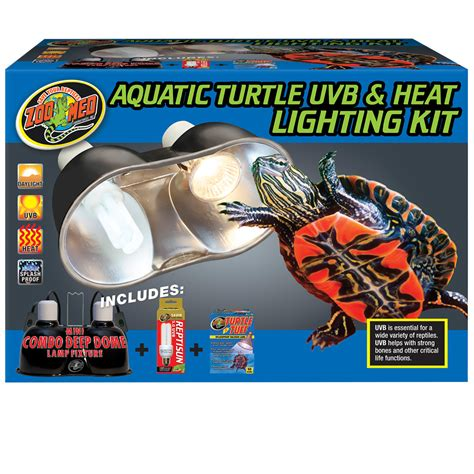 Zoo Med Heat L by Aquatic Turtle Uvb Heat Lighting Kit Zoo Med