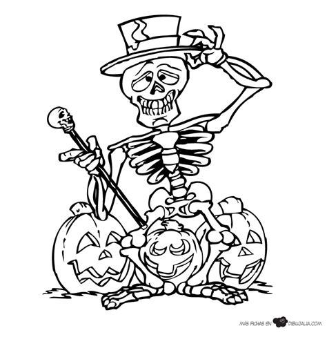 imagenes halloween esqueletos un esqueleto brujo dibujalia dibujos para colorear